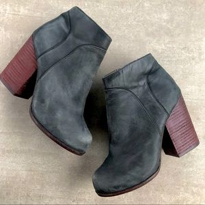 Jeffrey Campbell Hanger Dark Gray Leather Booties
